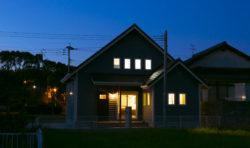 八幡西区吉祥寺町モデルハウス夜の外観