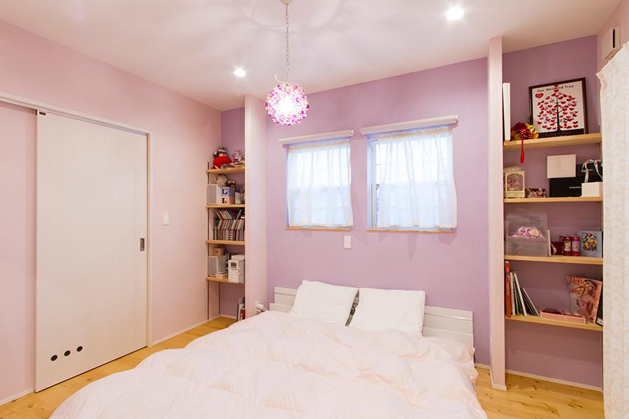 かわいいが詰まった家寝室