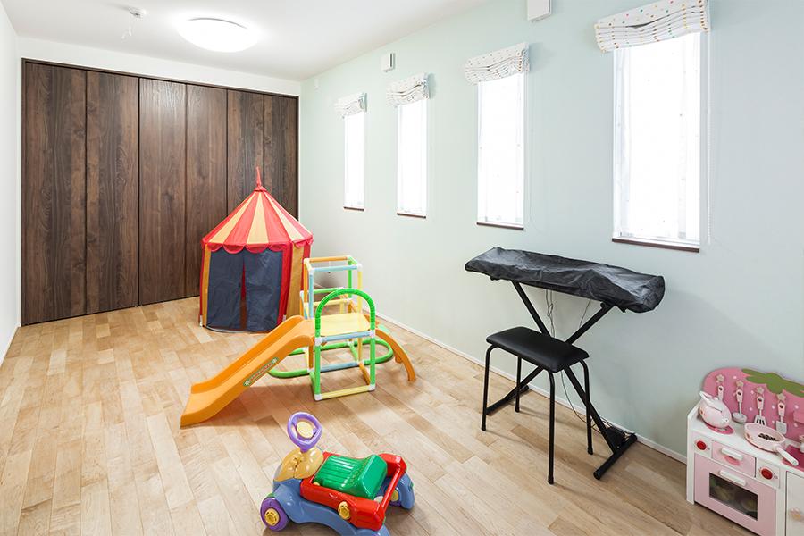 子供部屋は将来しきれるようになっています
