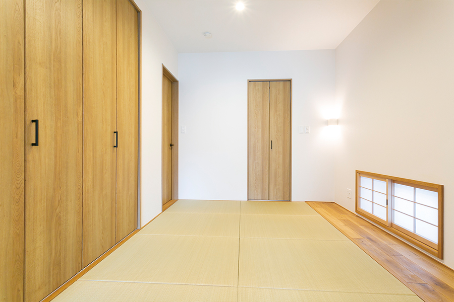 畳の寝室は和の心を忘れません。