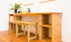 造作の建て付け家具