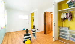 大きく一つにまとめた子供室将来分けれるように