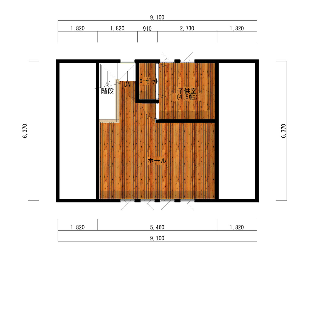 セカンドリビングがある大屋根アメリカンハウス間取り図2